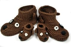 Crochet dog slippers / boots(no pattern)