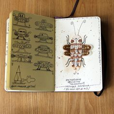 #insect #moleskine #paper