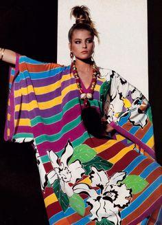 Irving Penn for American Vogue, May 1982. Caftan by Oscar de la Renta.