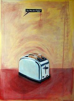 Toast  60cm x 80cm  Acrylic on canvas