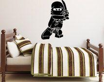 """Ninjago Lego Decal - Vinyl Wall Decal Sticker - 17.5""""H x 12""""W"""
