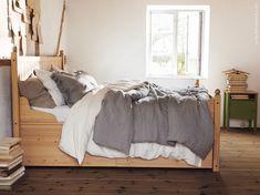 schlafzimmer eingerichtet u a mit norn s bettgestell ikea schlafzimmer tr ume pinterest. Black Bedroom Furniture Sets. Home Design Ideas