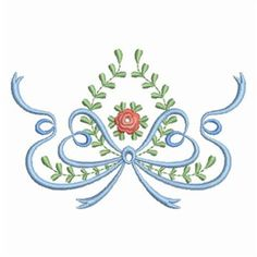 Wind Bell Embroidery Embroidery Design: Heirloom Christening Border 2.61 inches H x 3.84 inches W