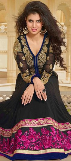 402556: Another dark look of actress Tina Desai in her photoshoot. Shop this anarkali now!
