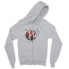 Zip hoodie / Jaz-Brand Logo Graphic Design By Jazart Rex