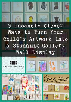 Here's one thing I know for sure… if you have young children, you have way more artwork than you know what to do with!! Right?  If you want to corral these masterpieces in one gorgeous location, why not create a gallery wall specifically for your children's artwork?  Here are 9 insanely clever ways to turn your young Picasso's chaos into a thing of beauty…