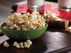 Bobbys Baseball Popcorn from Cooking ChannelTV.com Decrease cinn to 1T or less.  I love cinnamon though