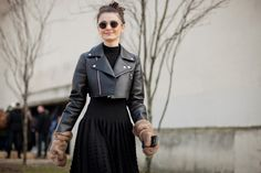 Love the jacket & dress. Hate the gloves. :)