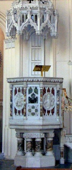 Gothic Revival Pulpit, St. Malachy's, Church