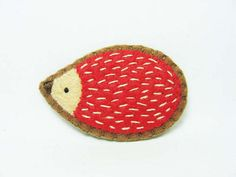 Friendly Hedgehog Felt Brooch