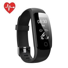 Fitness Tracker [Upgraded Version] Mpow Heart Rate Monitor Smart Bracelet Activity Tracker Fitness Health Smartwatch Wristband Bluetooth Pedometer with 14 training modes for Android and iOS Smart Phones Activity Tracker Watch, Fitness Activity Tracker, Bluetooth, Android, Triathlon, Jogging, Iphone 7, Ios, Black