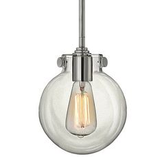 Hinkley Lighting 3128 1 Light Indoor Mini Pendant with Clear Globe Shade from the Congress Collection Image