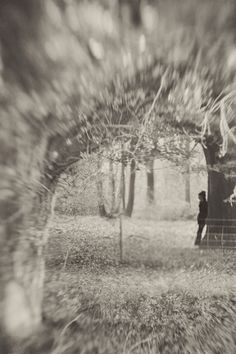 woods leaves trees autumn blur black and white photography atmospheric girl woodland  sussex based vintage style photographer.  www.ruby-roux.com