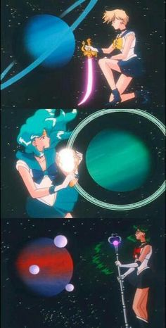 Sailor Uranus, Neptune and Pluto... Wait a minute. What happens to sailor puto now that there are only 8 planets???