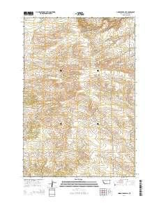 ~ Lindemulder Hill MT topo map, 1:24000 scale, 7.5 X 7.5 Minute, Current, 2014