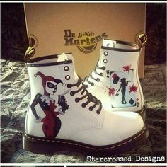 af86483df1d6 My fav boots Dr Martin s and fav bad girl Harley Quinn