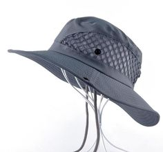 Summer Bucket Hat Breathable Mesh Beach Hats Man Wide Brim Sun Gorra Mujer  Men s Outdoors Foldable UV Protection Fishings Caps c7c4835bf042