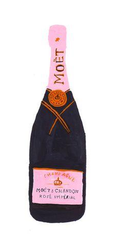 Moet Chandon champagne illustration art