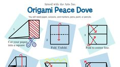 Ho to Fold a Peace Crane Origami Dove, Peace Meaning, International Day Of Peace, Peace Dove, Spiritual Practices, Anchor Charts, Crane, Teaching Resources, Markers