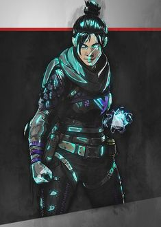 "Apex Legends Glowing Characters Wraith artwork by artist ""Illustrative. Legend Games, Battle Royale Game, Little Bit, Bloodhound, Electronic Art, Poster Prints, Posters, Video Game, Asdf"