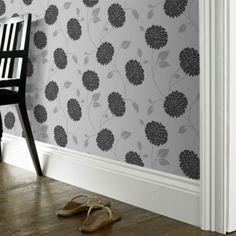 Super Fresco Paste The Paper Bronte Grey Wallpaper | Departments | DIY at B&Q