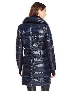 4ea0fa28ed74 BCBGMAXAZRIA Women s Metallic Down Coat, Sapphire, L Glanz, Jacken, Puffer  Mäntel,