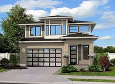 Super house plans with loft layout master suite ideas House Plan With Loft, Narrow Lot House Plans, Small Contemporary House Plans, Modern House Plans, Contemporary Homes, Prairie House, Prairie Style Houses, 4 Bedroom House Plans, Garage House Plans