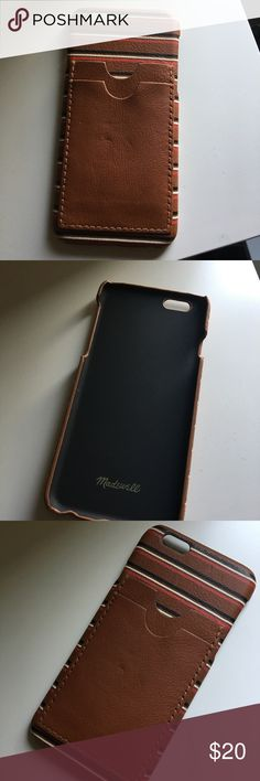 Madewell iPhone 6 Leather Carryall Phone Case Madewell Caryall iPhone 6 Case • Gently Used • Avoid scratches and scuffs in style with a cool striped leather • Comes from a smoke & pet free environment. Madewell Other