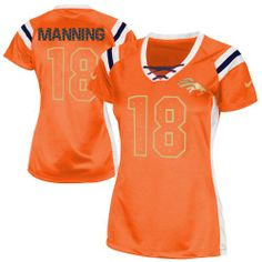 Peyton Manning Elite Nike Peyton Manning Elite Jersey at Broncos Shop. (Elite  Nike Women s Peyton Manning Orange Jersey) Denver Broncos NFL Draft Him ... 0adef2581