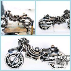 Motorcycle sculpture art for sale Motorcycle Gifts, Motorcycle Art, Modern Sculpture, Sculpture Art, Motorcycle Manufacturers, Old Motorcycles, Plastic Art, Metal Artwork, Art For Sale