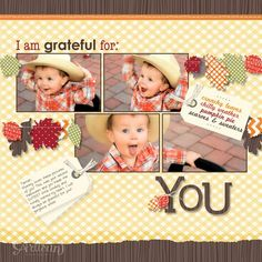 2012 Stampin' Up! Artisan Design Team October project - Wonderfall scrapbook page Jeanna Bohanon