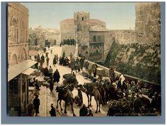 Jérusalem. Rue de la Tour de David. Le bazar. #Orient #Palestine_Palestina