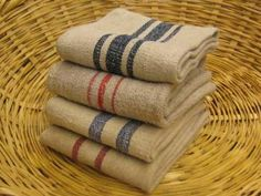 Homespun Linen Stripe Towels