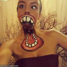 Crazy Face Painted Costume