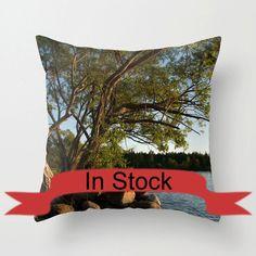 18x18 Beach Themed Decor Pillow Case Decorative Throw Cushion Cover Cottage Chic Decor Nautical Cabin Interior Design Accent Lake House http://ift.tt/1lLaWwn