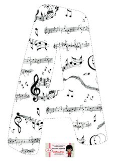 Alphabet with crazy staves. Music Themed Parties, Alphabet Templates, Banner Letters, Music Activities, Music Classroom, Alphabet And Numbers, Teaching Music, Note Paper, Music Lessons