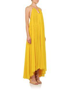 34b1fc2557d Chloé - Pleated Silk Maxi Dress