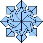 very nice instructions for Snowflake 3 using rectangular tiles