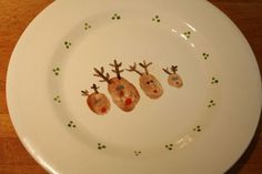 cute family christmas plate - would be great for the cookies to Santa.