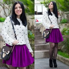 Choies Skirt, Banggood Bag, Sheinside Sweater
