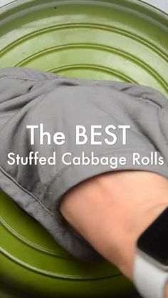 Best EVER Stuffed Cabbage Roll recipe, easy to make, meal prep hero, freezer friendly! @suburbansoapbox #stuffedcabbage #cabbagerolls