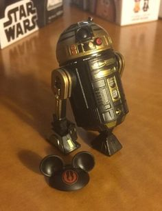 Star Wars Droid Factory 2015 Collection Disney R2 Unit GOLD And BLACK Droid Part #StarWarsDisney