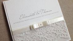 wedding invitations lace - Google Search