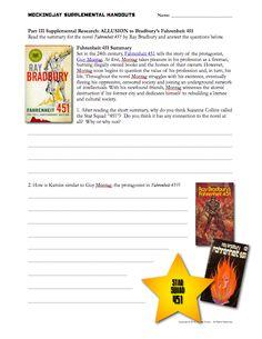 Hunger Games Lessons: Teaching Mockingjay - connection to Ray Bradbury's Fahrenheit 451