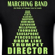 True, lol but I think the trombone is a little louder Marching Band Quotes, Marching Band Problems, Flute Problems, Marching Band Shirts, Drumline Shirts, Funny Band Memes, Band Jokes, Silly Memes, Band Nerd