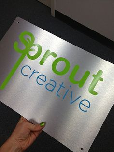 Brushed Alupanel Sign with Cut-Vinyl Lettering Wayfinding Signs, Site Sign, Monument Signs, Fast Signs, Channel Letters, Creative Thinking, Vinyl Lettering, Visual Communication, Cut And Color