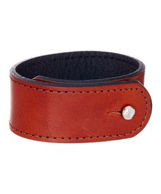 Black & Tan Reversible Leather Bracelet on  #zulily. Sale ends in the AM!