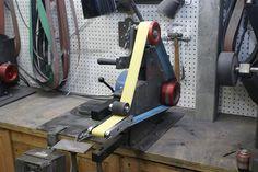 Small Wheel Holder Kit Belt Grinder Plans, Knife Grinder, Knife Making Tools, Wood Spoon, Tools And Equipment, Cool Tools, Blacksmithing, Metal Working, Workshop