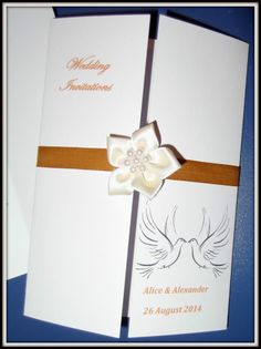 PERSONALISED GATEFOLD WEDDING INVITATIONS Day Or Evening