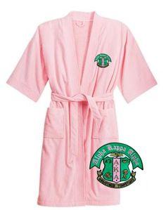 AKA pink terry velour bathrobe <3